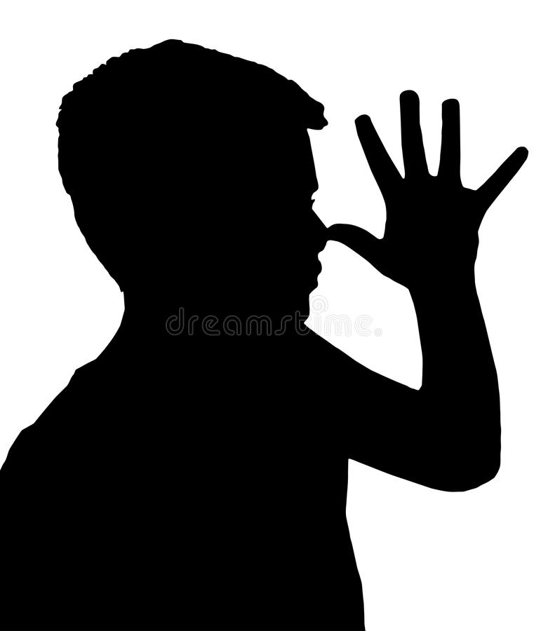 Isolated Boy Child Gesture Teaser royalty free stock photography