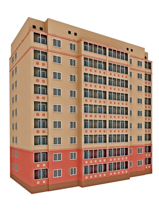 Isolated brick house stock illustration
