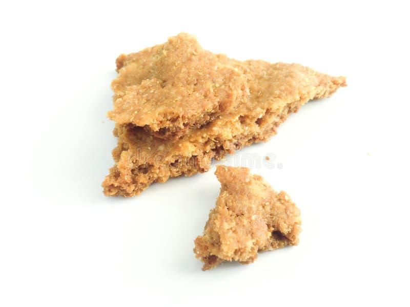 Isolated Broken Cracker stock photography