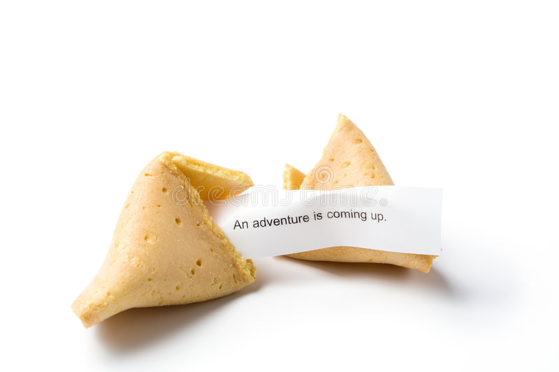 Download Isolated Broken Fortune Cookie Stock Image - Image: 3456767