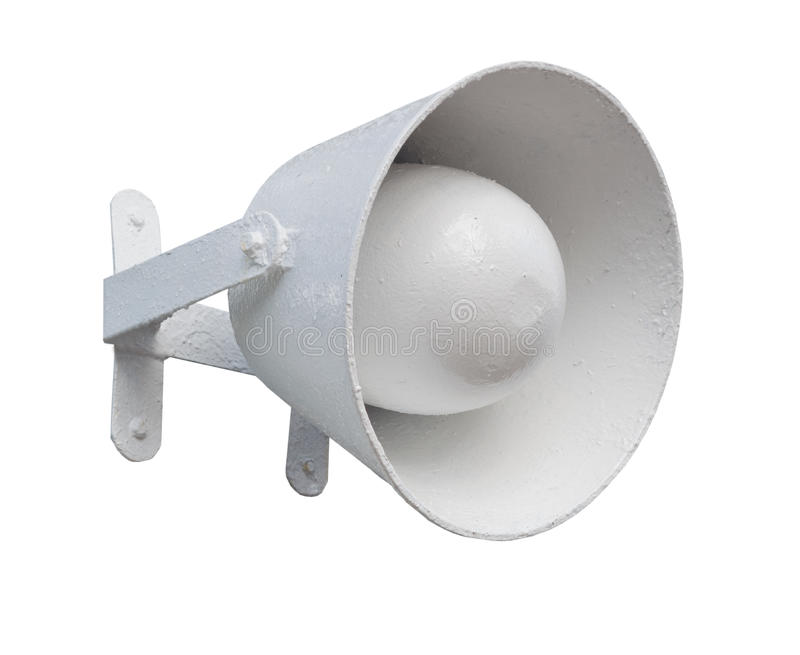 Isolated bullhorn. The Megaphone on white background stock image