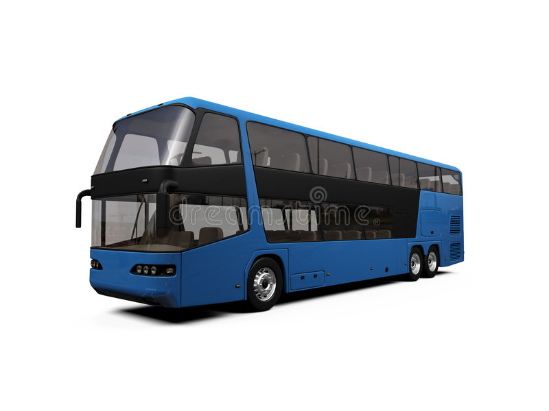 Download Isolated bus view stock illustration. Image of dubbledecker - 4389961