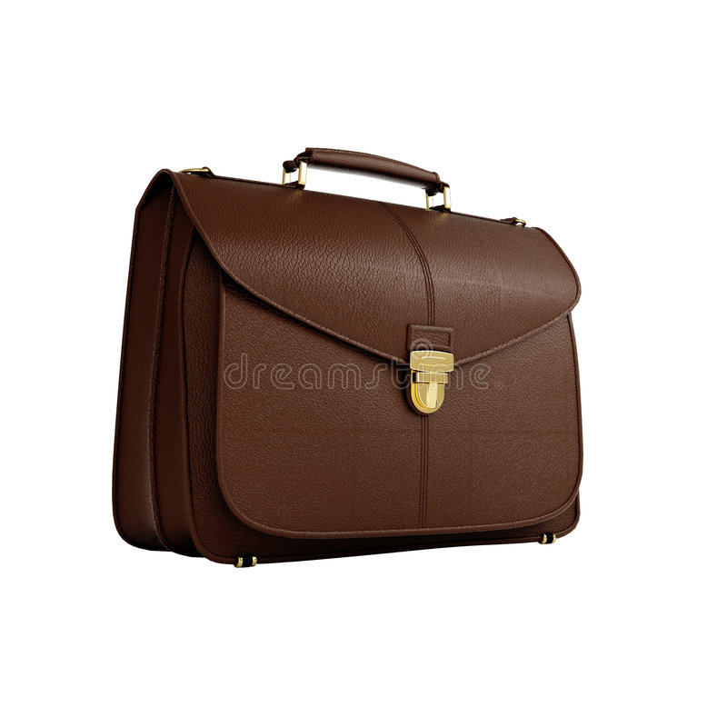 Isolated business bag stock photo