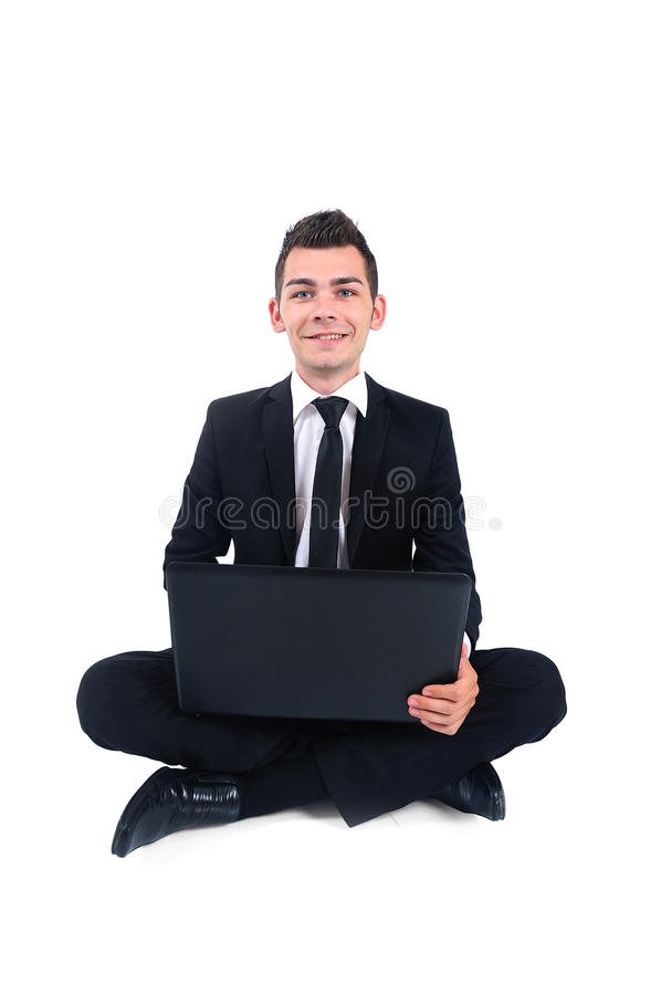 Download Isolated business man stock photo. Image of notebook - 26669502