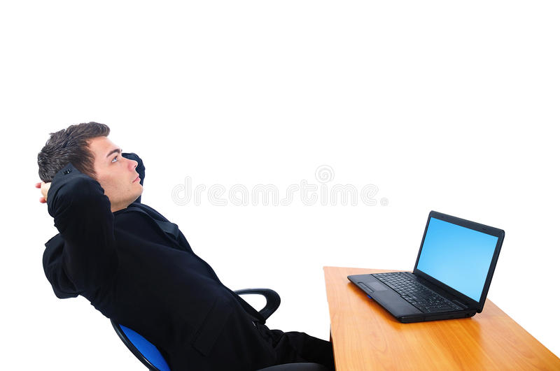 Download Isolated business man stock photo. Image of career, desktop - 26669776