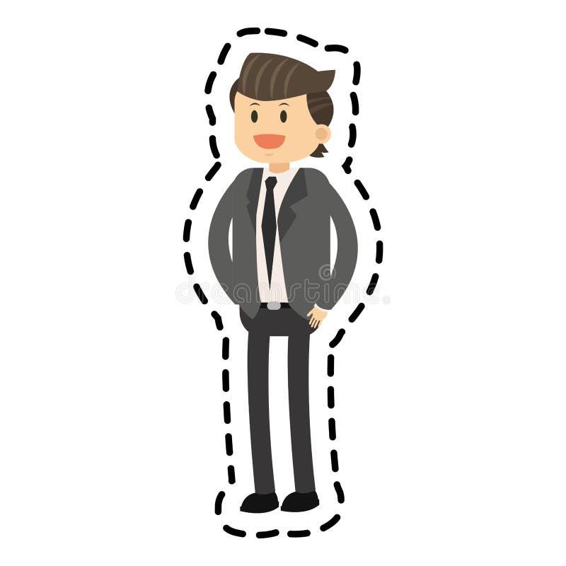 Isolated businessman design. Businessman icon. Business businesspeople and businessperson theme. Isolated design. Vector illustration stock illustration