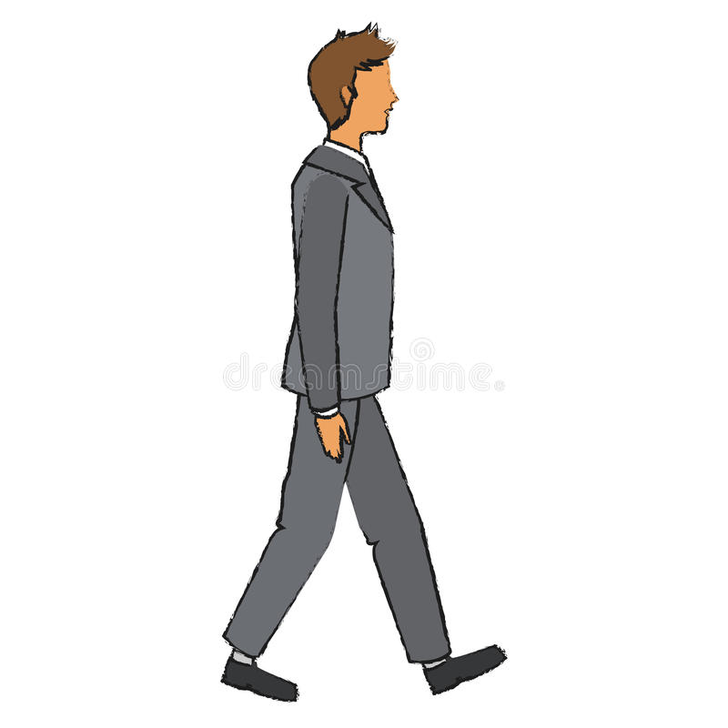 Isolated businessman design. Businessman icon. Management corporate job and leader theme. Isolated design. Vector illustration vector illustration