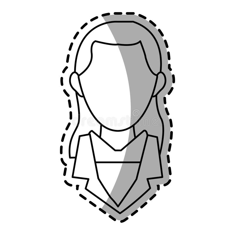 Isolated businesswoman design. Businesswoman icon. Management corporate job and leader theme. Isolated design. Vector illustration stock illustration