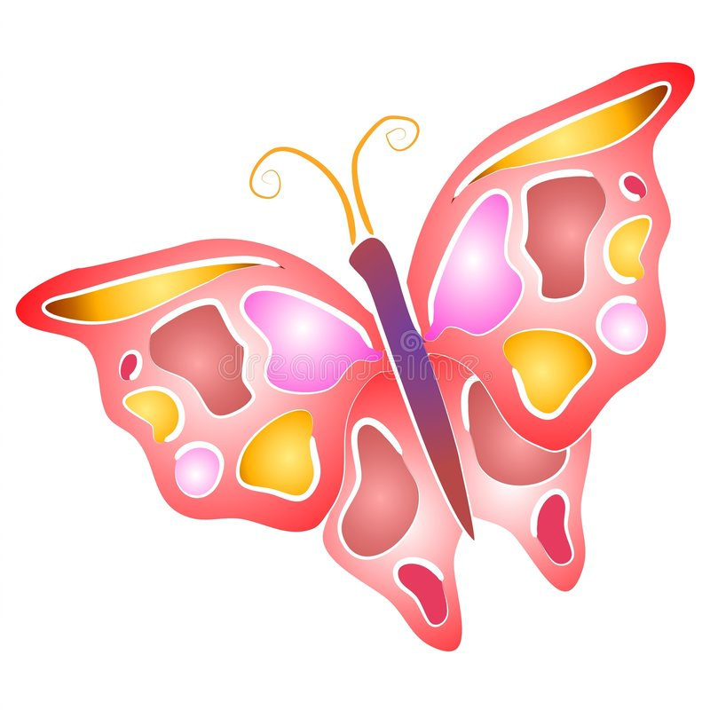 Isolated Butterfly Clip Art 4 royalty free illustration