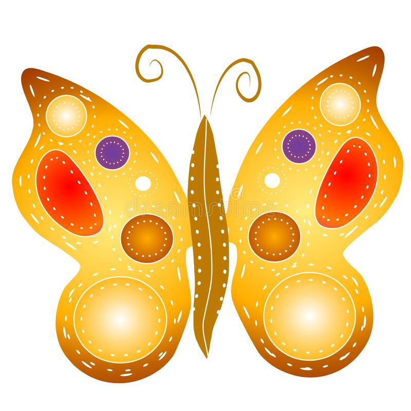 Isolated Butterfly Clipart royalty free stock images