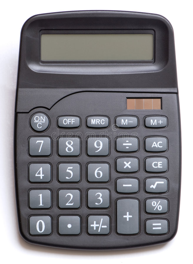 Isolated Calculator royalty free stock image