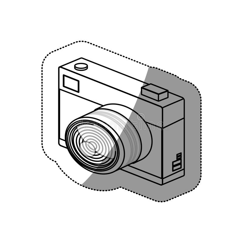 Isolated camera device design. Camera device icon. Gadget technology and photography theme. Isolated design. Vector illustration royalty free illustration