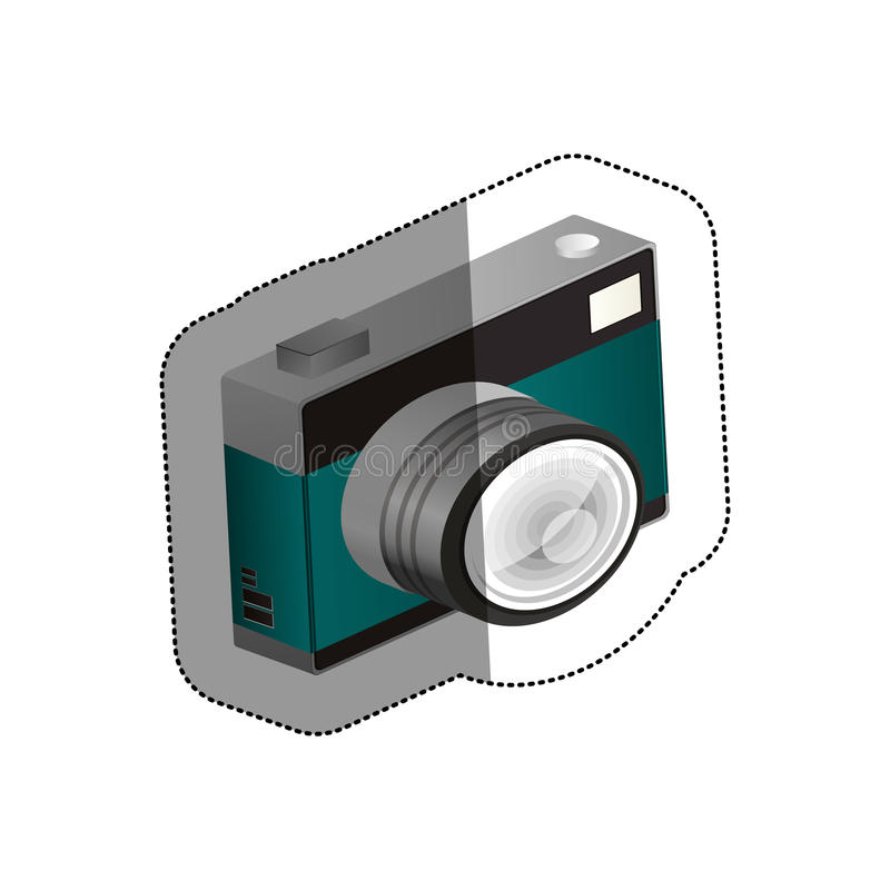 Isolated camera device design. Camera device icon. Gadget technology and photography theme. Isolated design. Vector illustration vector illustration