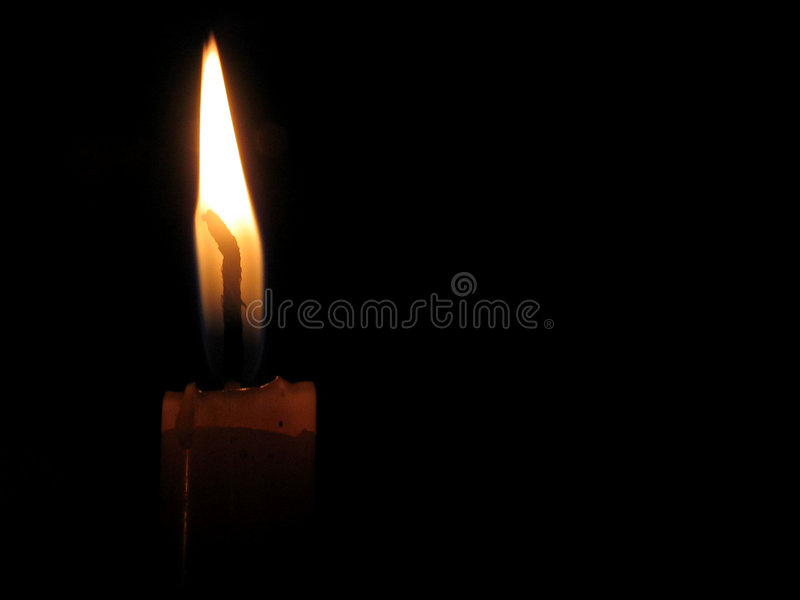 Isolated candle royalty free stock image