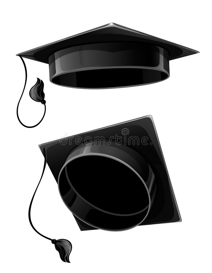 Download Isolated  Cap Of University Student Stock Illustration - Image: 6825834