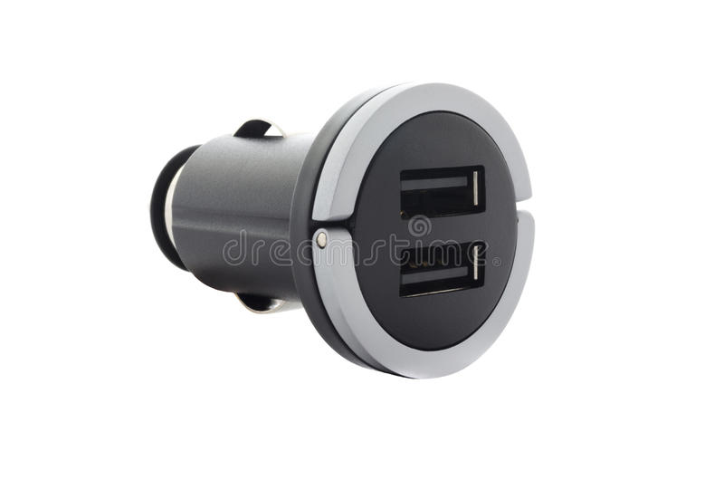 Isolated car charger stock photo
