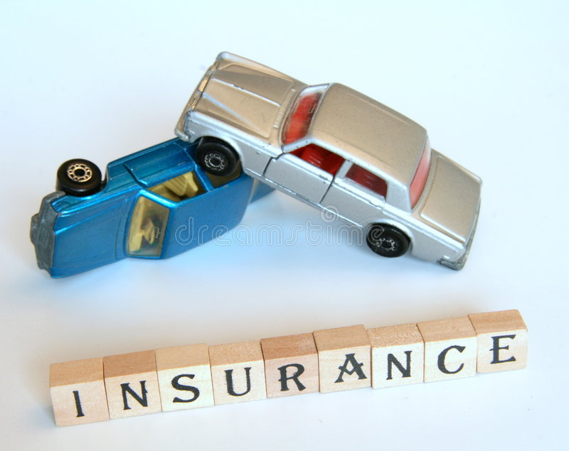 Isolated car insurance stock photos