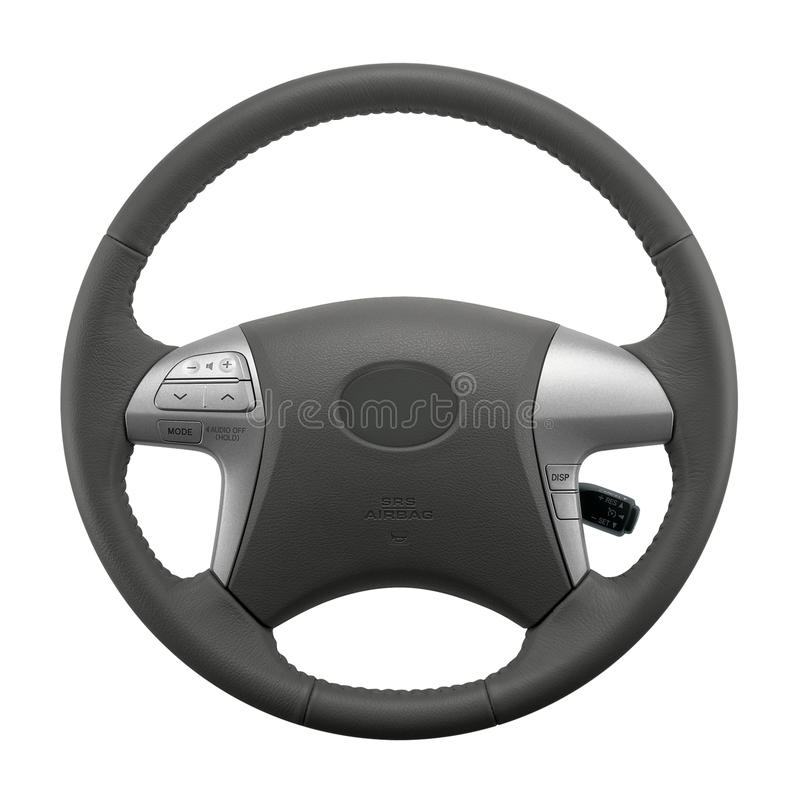 Isolated Car Steering Wheel Stock Photography