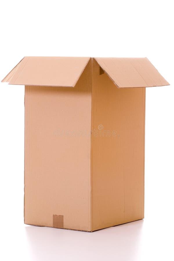 Isolated cardboard box stock photography