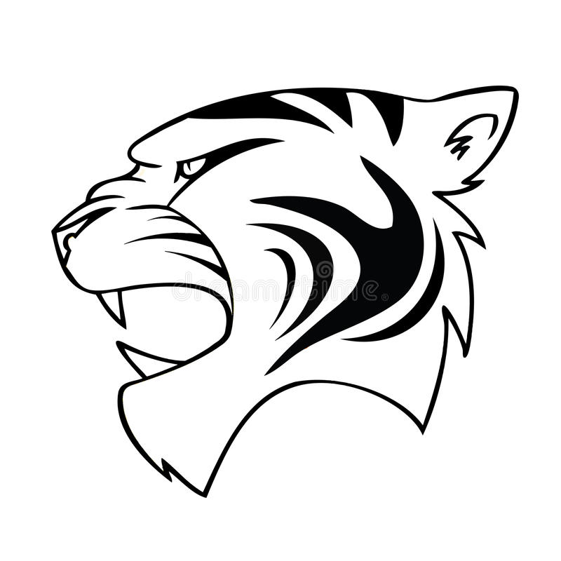 Download Isolated Cartoon Tiger Head Stock Vector - Illustration of cartoon, emblem: 26618642