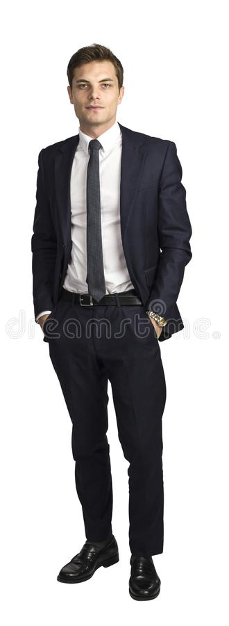 Isolated caucasian businessman royalty free stock images