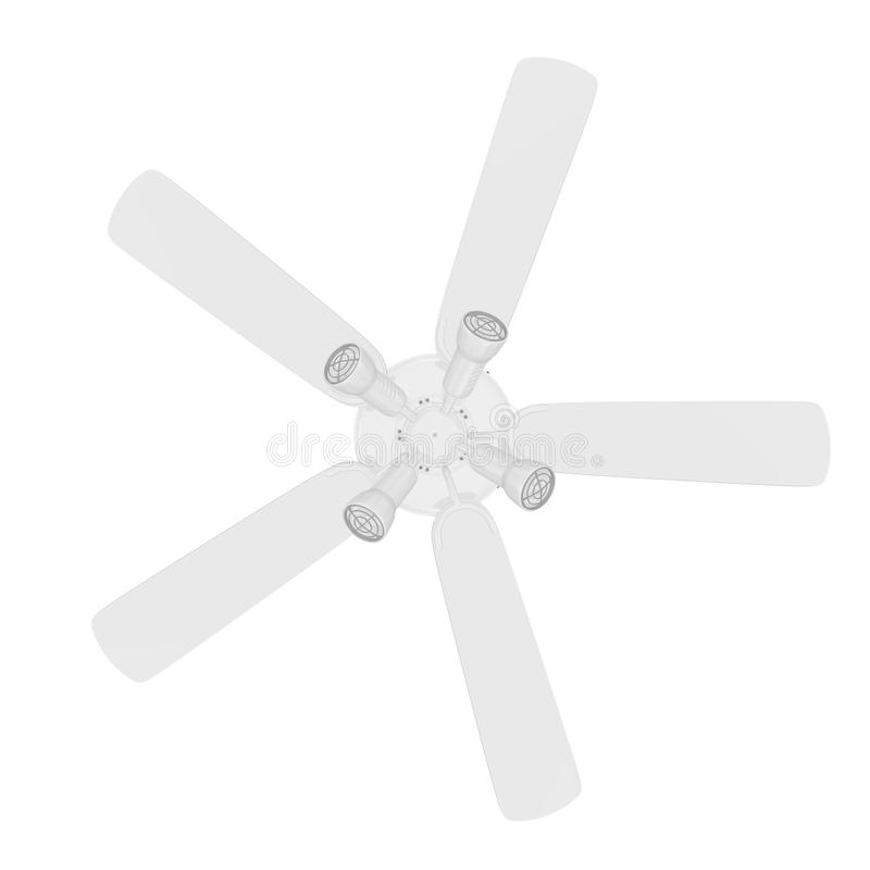 Isolated Ceiling Fan Stock Photography
