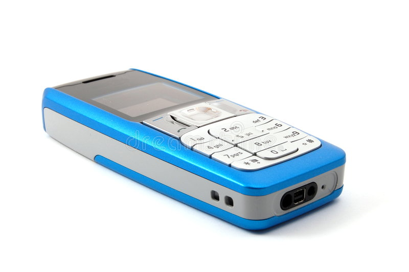 Isolated cell phone royalty free stock images