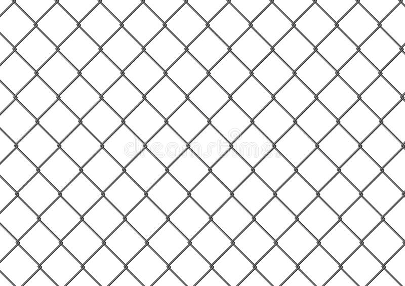Isolated Chain Link Fence Royalty Free Stock Photo