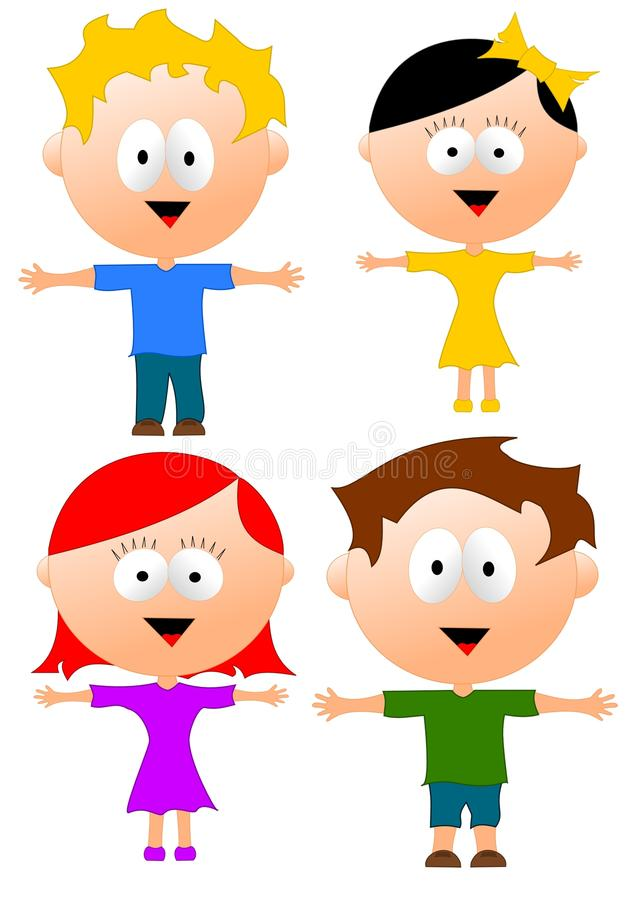 Isolated children stock images