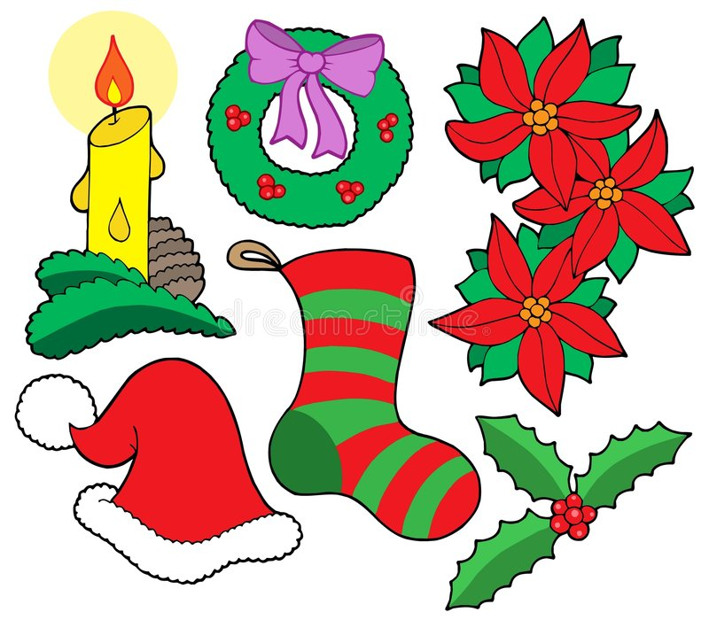 Isolated Christmas images vector illustration