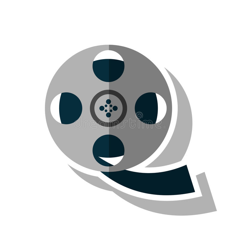 Isolated cinema film reel design. Cinema film reel icon. Movie video media and entertainment theme. Isolated design. Vector illustration royalty free illustration