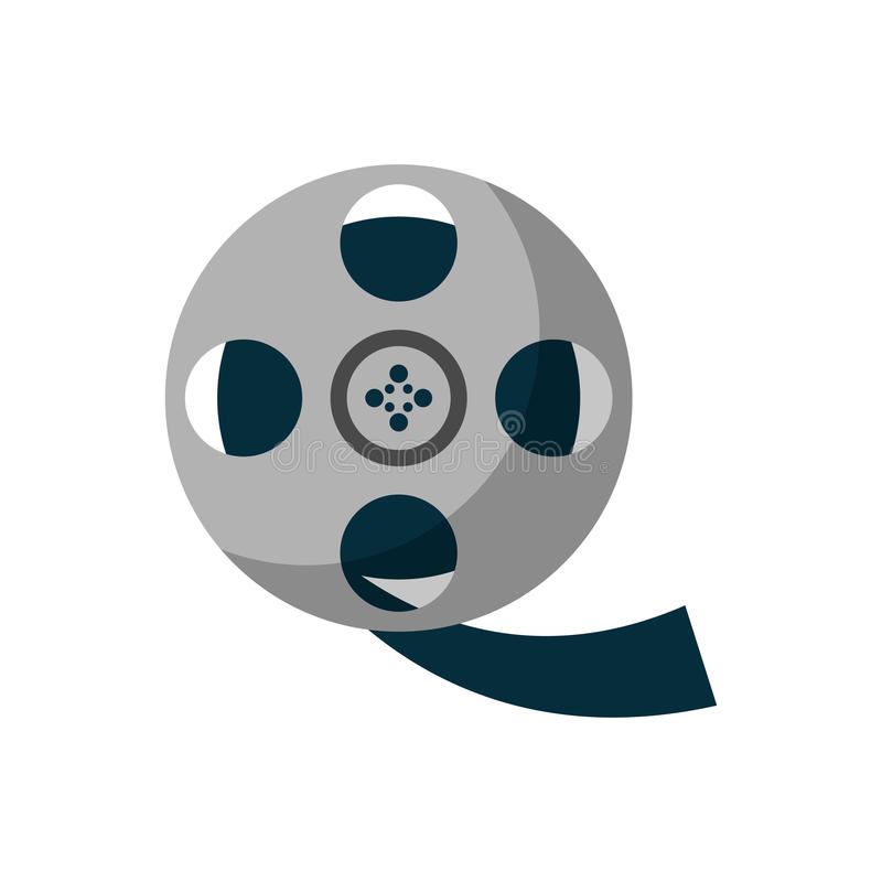 Isolated cinema film reel design. Cinema film reel icon. Movie video media and entertainment theme. Isolated design. Vector illustration stock illustration