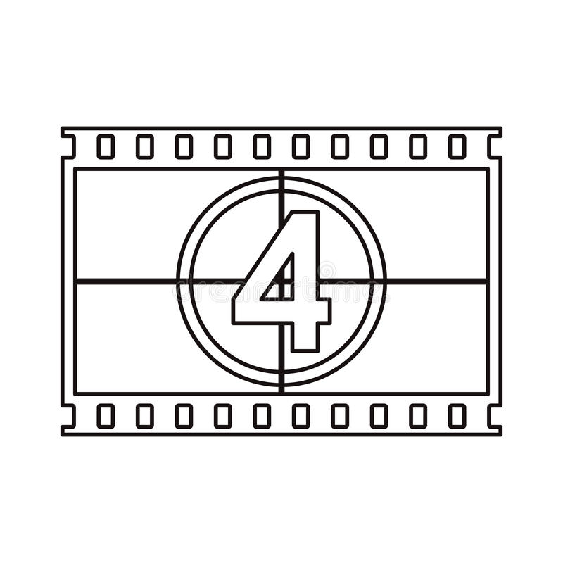 Isolated cinema film strip design. Cinema film strip icon. Movie video media and entertainment theme. Isolated design. Vector illustration vector illustration