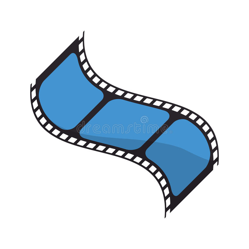 Isolated cinema film strip design. Cinema film strip icon. Movie video media and entertainment theme. Isolated design. Vector illustration stock illustration