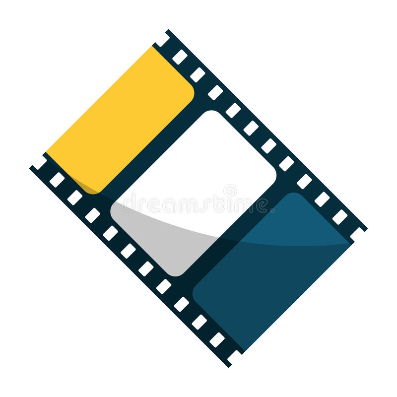 Isolated cinema film strip design. Cinema film strip icon. Movie video media and entertainment theme. Isolated design. Vector illustration royalty free illustration