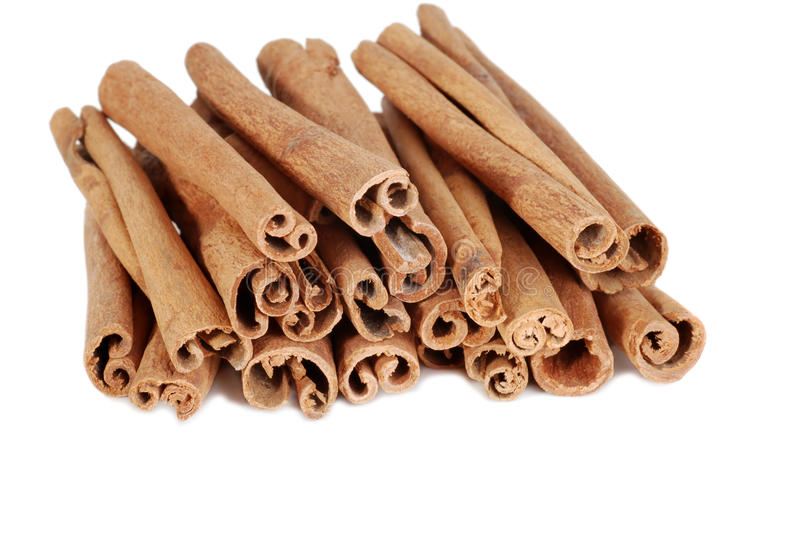 Isolated Cinnamon Sticks Royalty Free Stock Photography