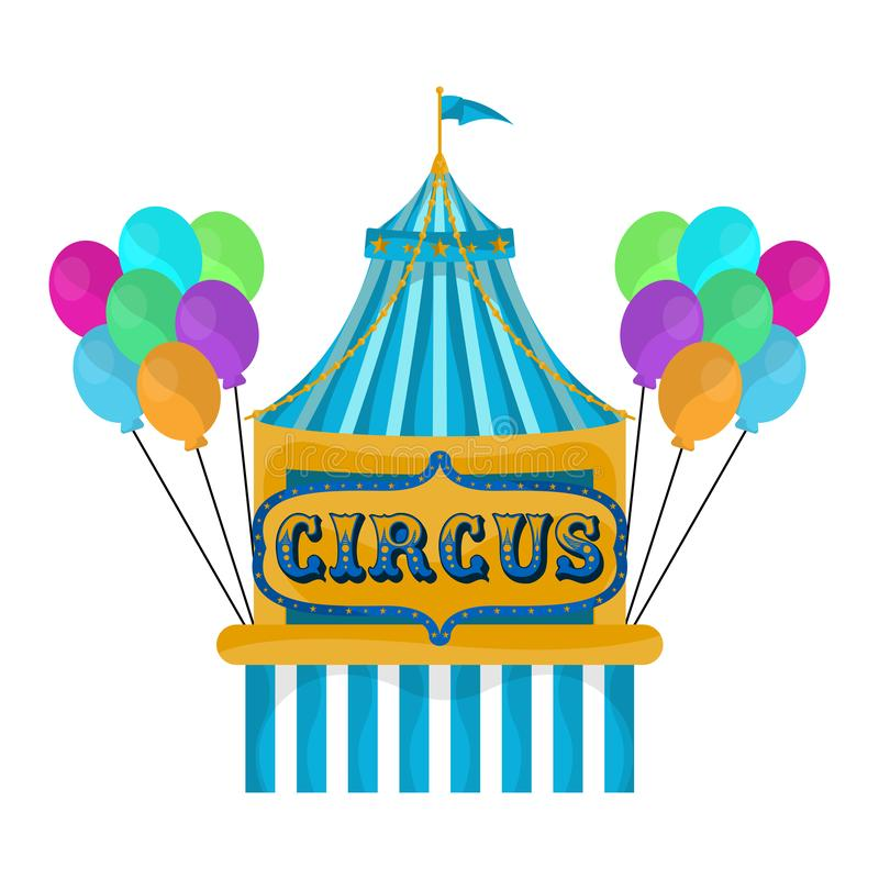 Isolated circus carpet. Over a white background - Vector illustration vector illustration