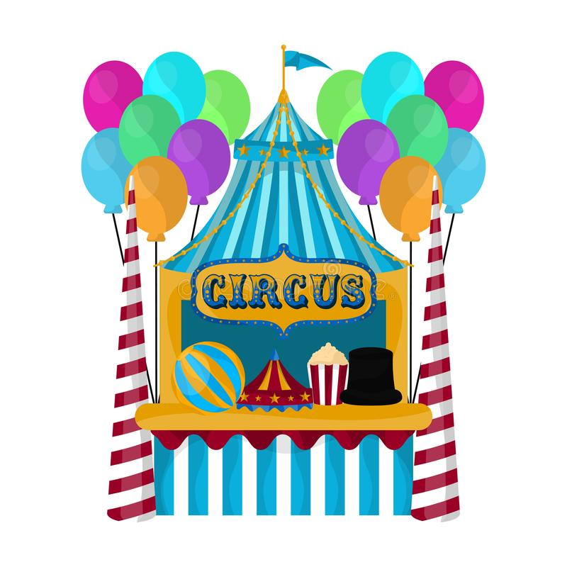Isolated circus carpet. Over a white background - Vector illustration stock illustration