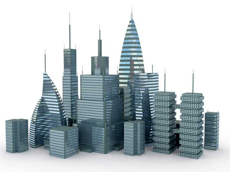 Isolated city vector illustration