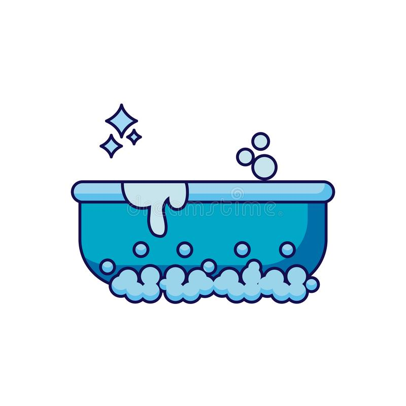 Isolated clean bath detailed design royalty free illustration