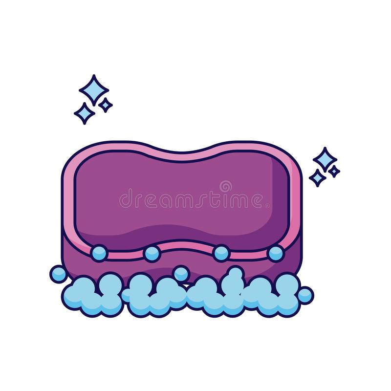 Isolated clean sponge detailed design royalty free illustration