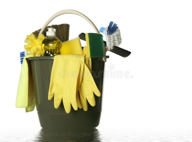 Download Isolated Cleaning Supplies Wet Bucket Stock Photo - Image: 8106582