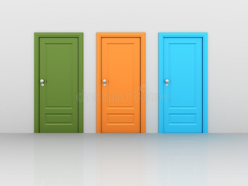 Isolated closed Doors vector illustration
