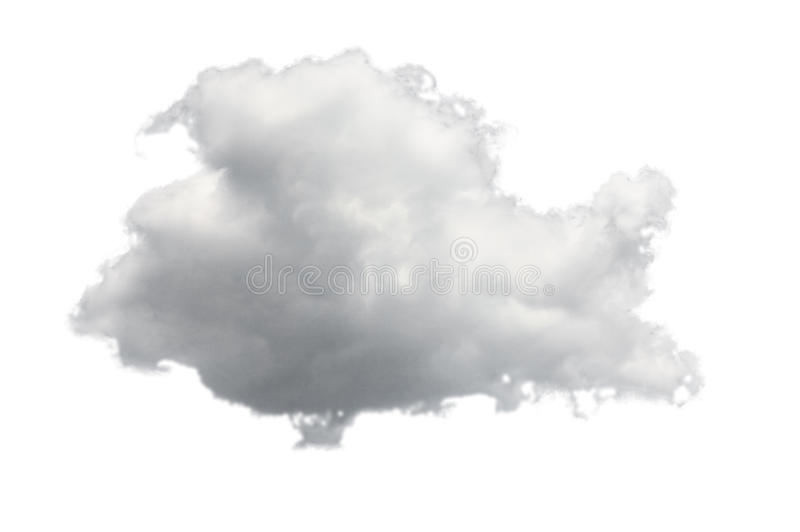 Isolated cloud for computing concept stock image