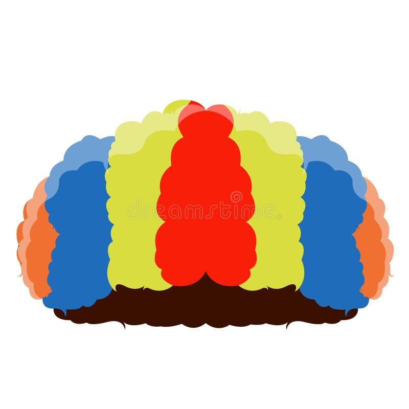 Isolated clown hair vector illustration