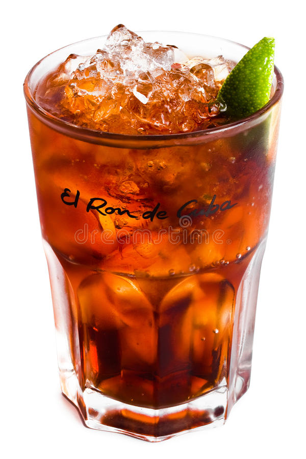 Free Isolated Cocktail With Ice And Lime 2 Royalty Free Stock Photo - 11000865
