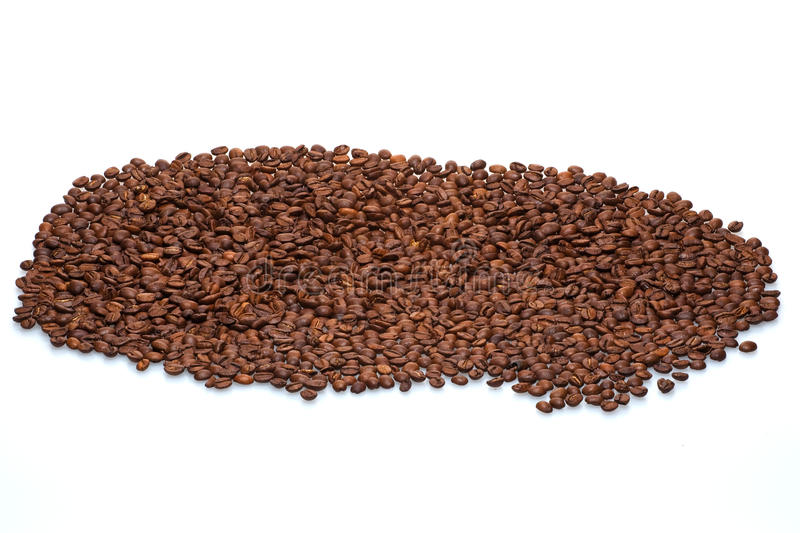 Isolated coffee beans stock images