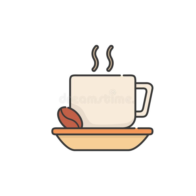 Isolated coffee cup icon fill design vector illustration