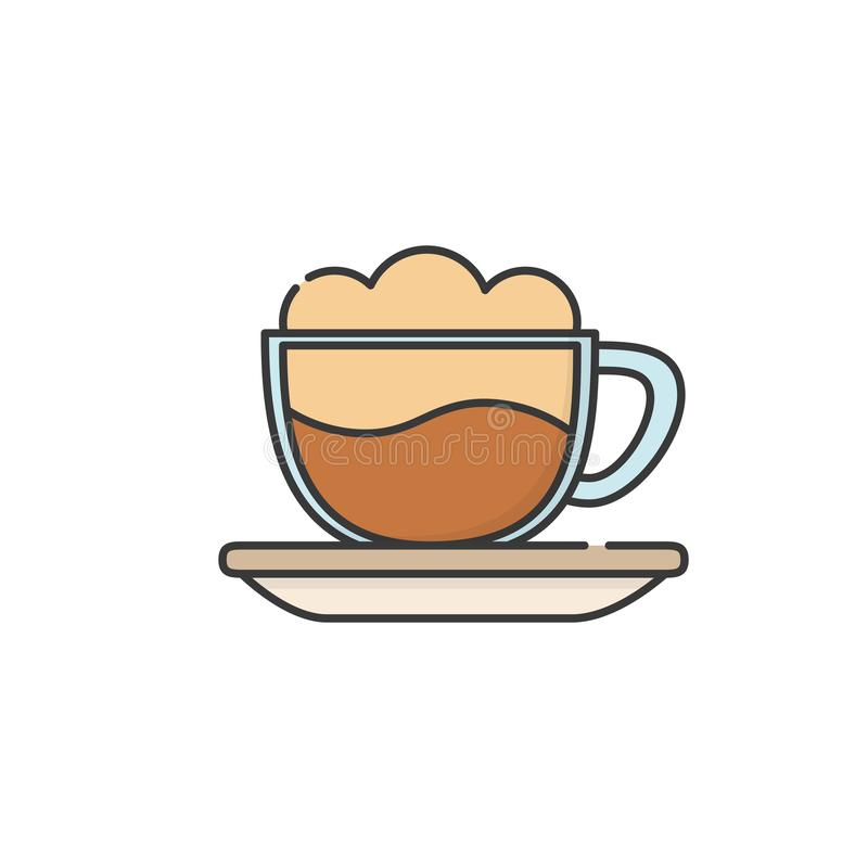 Isolated coffee cup icon fill design stock illustration