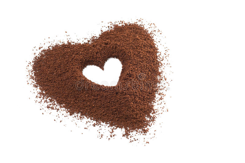 Isolated Coffee granules royalty free stock images